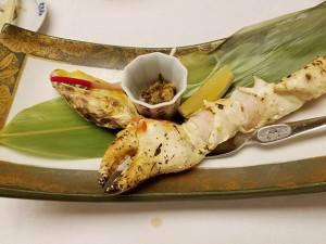 大きなずわいガニと牡蠣のグラタン!